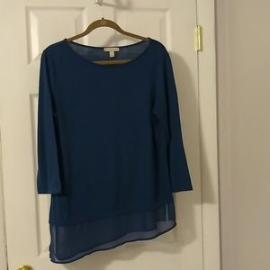 Blouse size large, Dress Barn Aline hem top